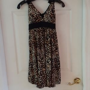Womens leapords print halter top dress